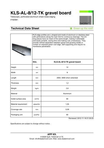 KLS-AL-8/12-TK gravel board