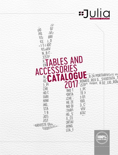 Table and accessories CATALOGUE 2017