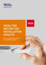 IDEAL FOR  RESTRICTED INSTALLATION HEIGHTS