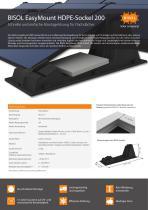 BISOL EasyMount HDPE-Sockel 200