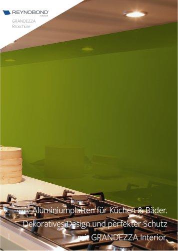 GRANDEZZA Interior - Aluminiumverbundplatte für Küchen und Bäder