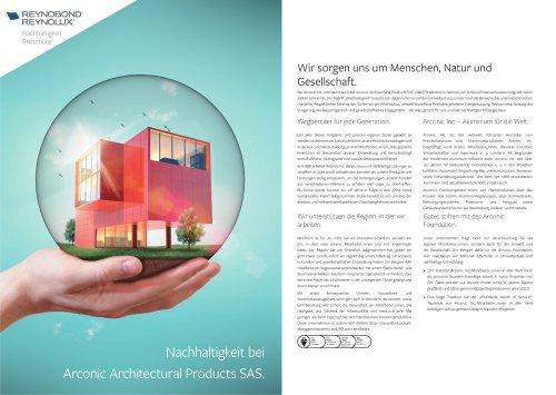 Nachhaltigkeit bei Arconic Architectural Products SAS