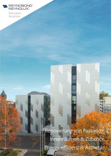Renovierung von Fassaden, Innenräumen und Zubehör mit Aluminium-Verbunplatte und -Bleche