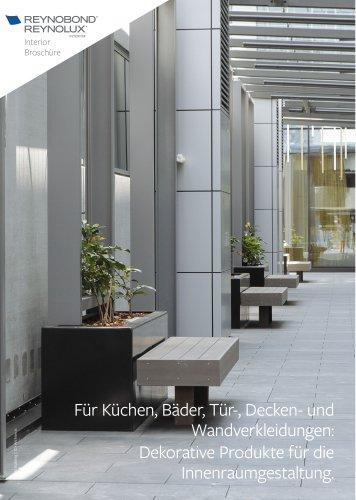 Reynobond / Reynolux Interior - Aluminium-Verbundplatte und Bleche für die Innenraumgestaltung