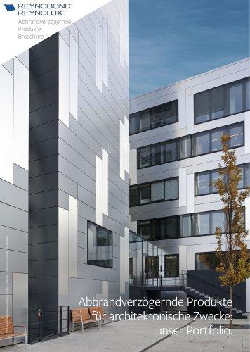 Unsere abbrandverzögernde Produkte für Aluminiumlösungen für Fassaden- und Dacheindeckungen