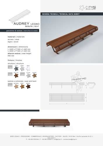 AUDREY SEAT WOOD