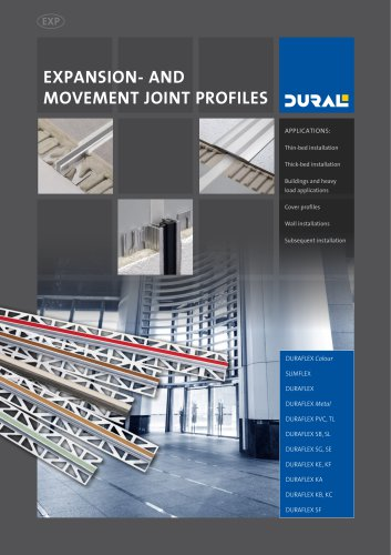 EXPANSION- AND MOVEMENT JOINT PROFILES
