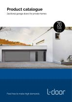Sectional garage doors for private homes