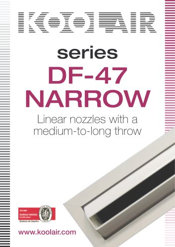 Linear nozzles with a medium-to-long throw. DF-47 NARROW