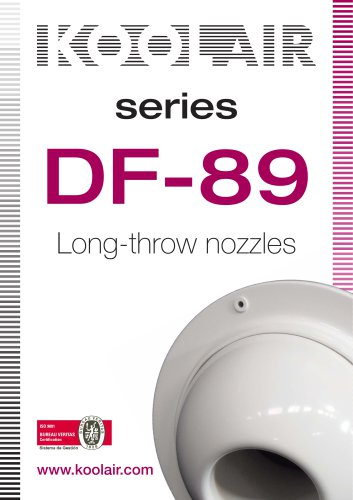 Long-throw nozzles – DF 89