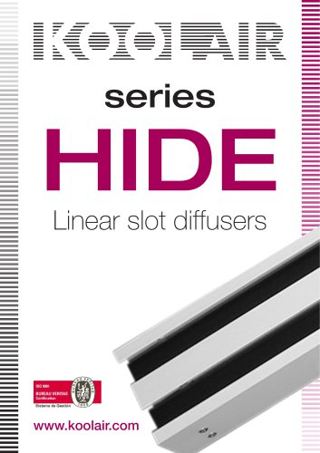 Series HIDE Linear slot diffusers