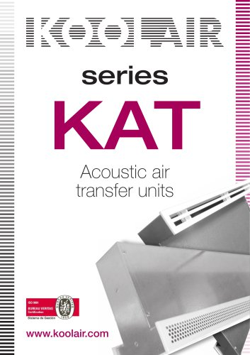 Series KAT Acoustic air transfer units