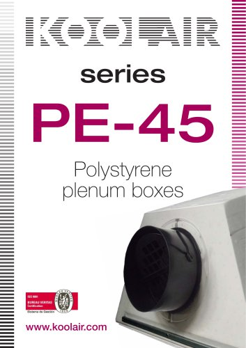 Series PE-45 Polystyrene plenum boxes