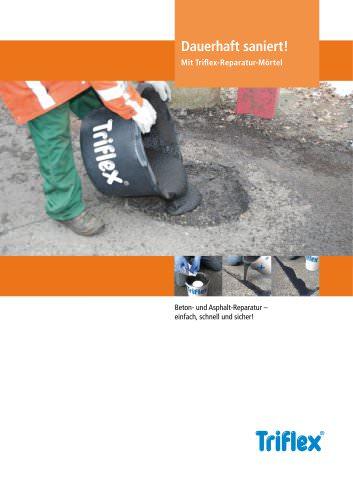 Broschüre Triflex-Reparatur-Mörtel