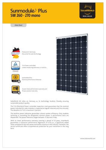Sunmodule Plus SW 260-270 mono