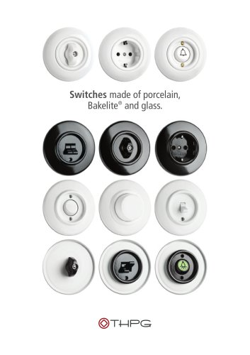Switches made of porcelain