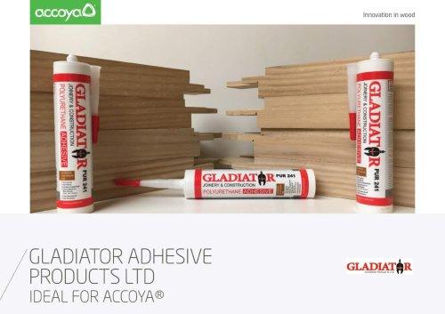 Accoya Adhesives Gladiator Leaflet