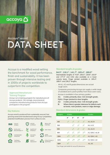 Accoya® wood Data Sheet