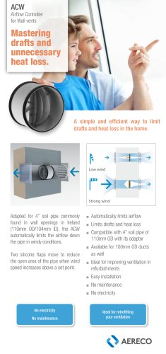 ACW Airflow Controller for Wall vents Masteri