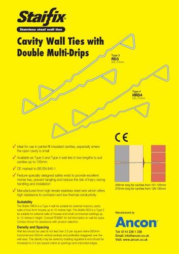 Stainless steel wall ties