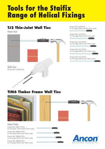 Tools for the Staifix Range of Helical Fixings