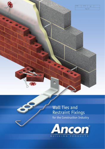Wall Ties and  Restraint Fixings