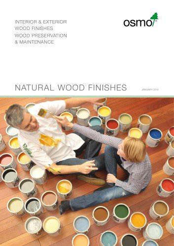 Natural wood fi N ishes