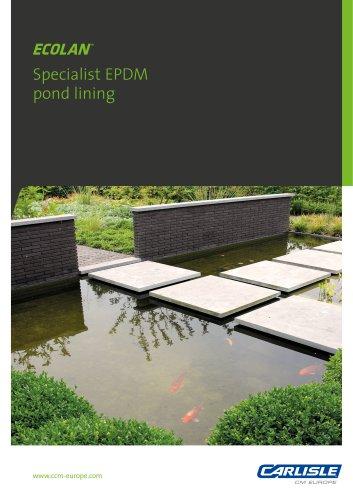 ECOLAN® Specialist EPDM pond lining