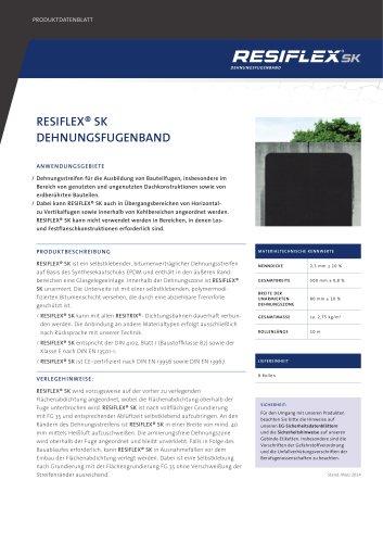 RESIFLEX® SK DEHNUNGSFUGENBAND