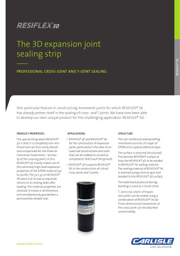 RESITRIX® RESIFLEX 3D Sealing Strip