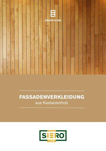 FASSADENVERKLEIDUNG aus Kastanienholz