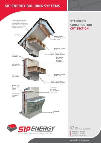 standard construction cut section