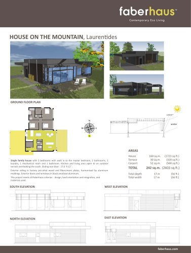 HOUSE ON THE MOUNTAIN, Laurentides