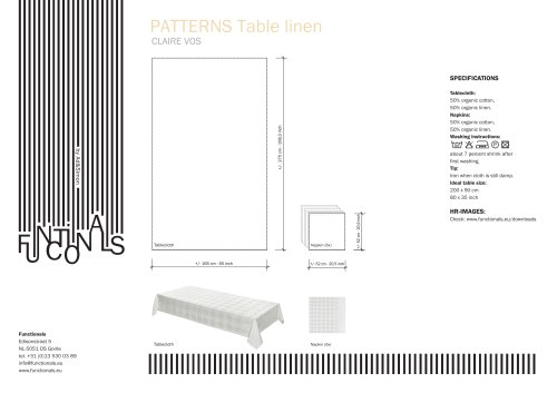 PATTERNS TABLE LINEN