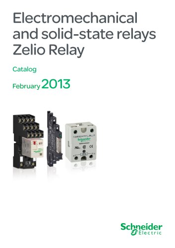 Electromechanical and solid-state relays Zelio Relay - 2013