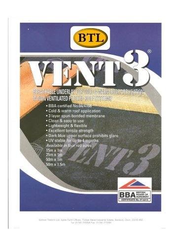 Vent 3 - Breathable Membrane