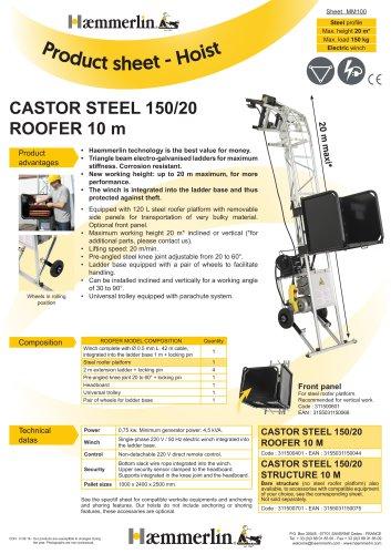 CASTOR STEEL 150/20 ROOFER 10 m