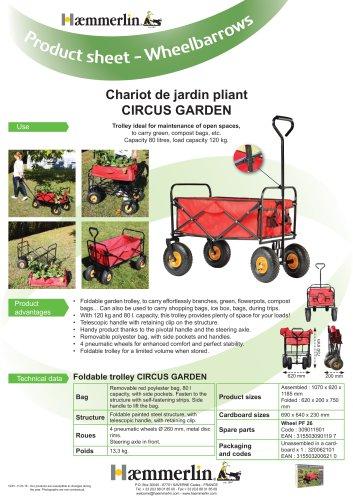 Chariot de jardin pliant CIRCUS GARDEN