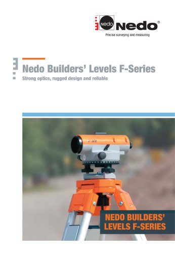 Nedo Builders' Levels F-Series