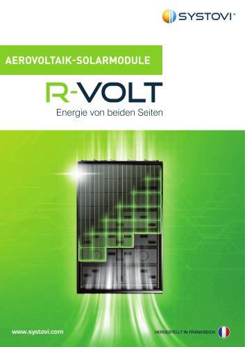 AEROVOLTAIK-SOLARMODULE - R-VOLT - Energie von beiden Seiten