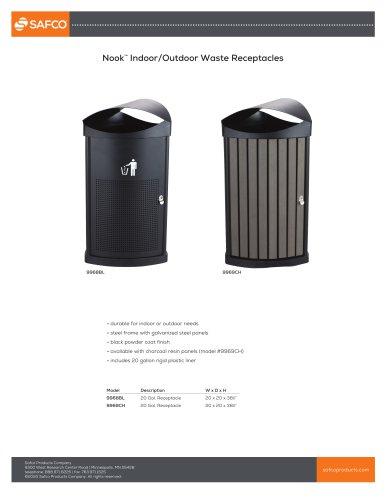 Nook™ Indoor/Outdoor Waste Receptacles