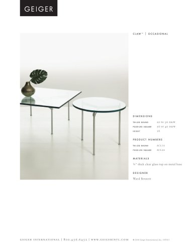 Occasdional tables