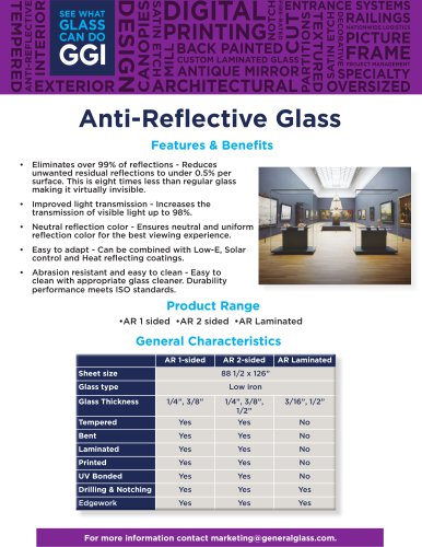 Anti-Reflective Glass