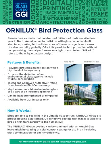 ORNILUX® BIRD PROTECTION GLASS