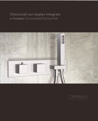 Concealed mixers with integrated hand shower set