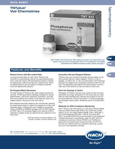 TNT Plus® Vial Chemistries