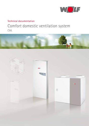 Comfort domestic ventilation system CWL