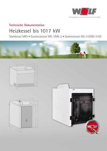 Heizkessel bis 1017 kW