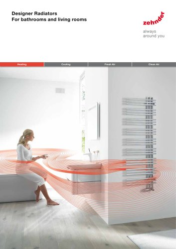 Zehnder Designer Radiators for Open Systems Heating