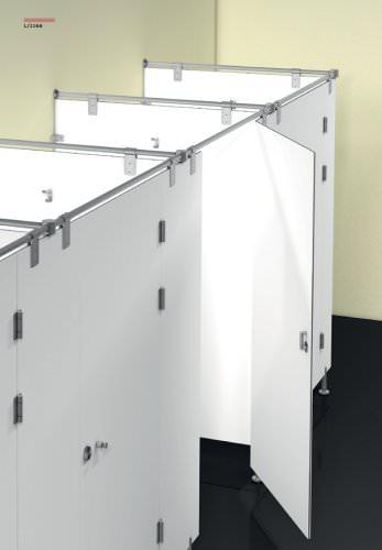 Sanitary booth hardware